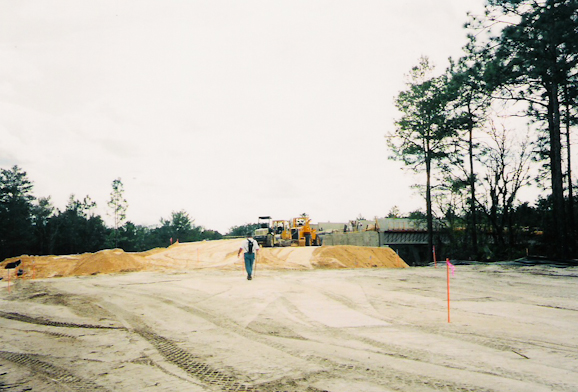 Approaching construction from west, 1999