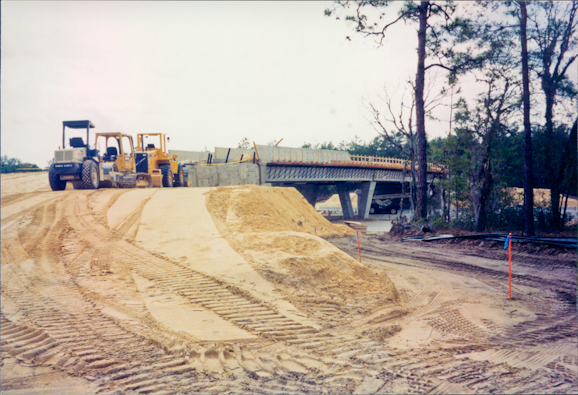 Construction from west side, 1999