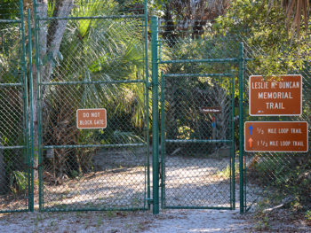 Leslie Duncan Memorial Trail gate