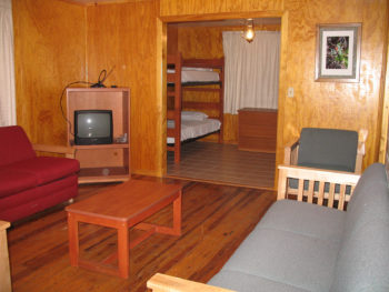 Inside the Cherry Cabin at Gold Head Branch State Park