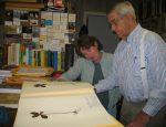 Angus Gholson in his herbarium