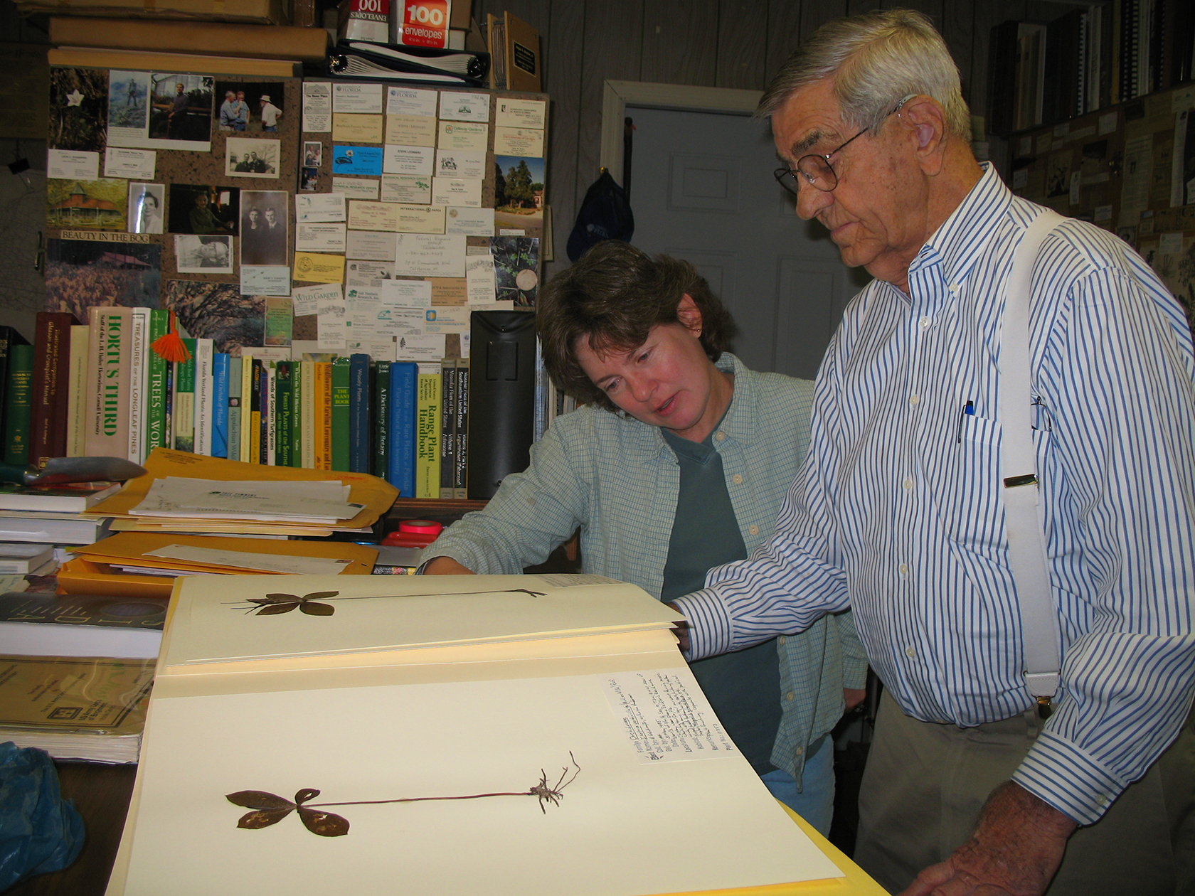 Angus Gholson in his herbarium