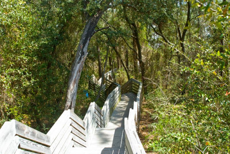 Steep downhill Pensacola Bay Bluffs