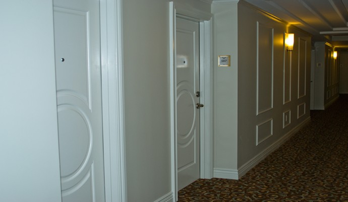 Hallway in the hotel