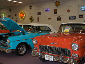 Cars on display at Muscle Car City