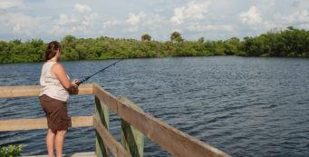 Fishing at E.G. Simmons Park, Ruskin