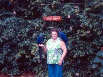 1969 Grandma at Parrot Jungle