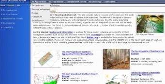 Forest Encyclopedia Network website