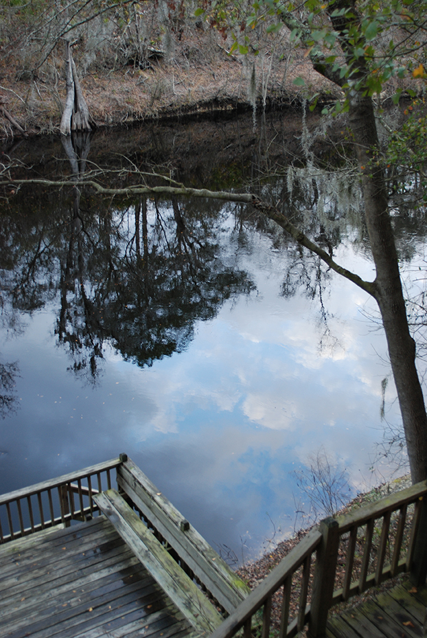 Observation deck on the Suwannee River at Suwannee Valley Campground
