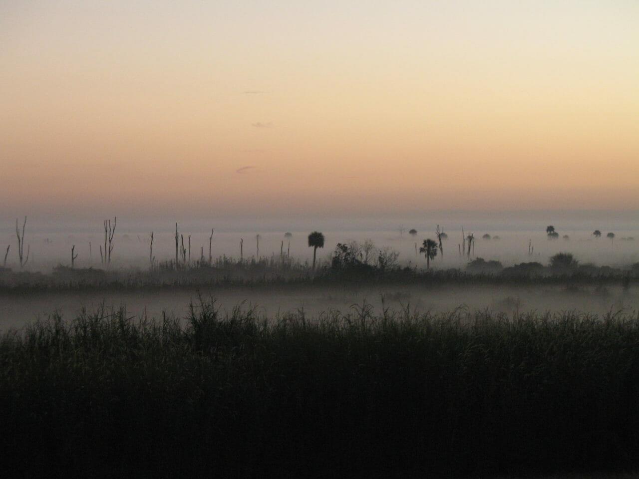 Misty morning on Lake Okeechobee