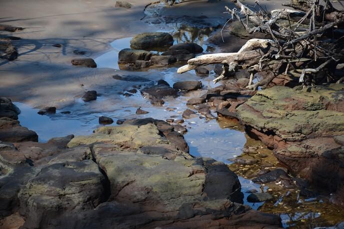 Black rock beach rocks