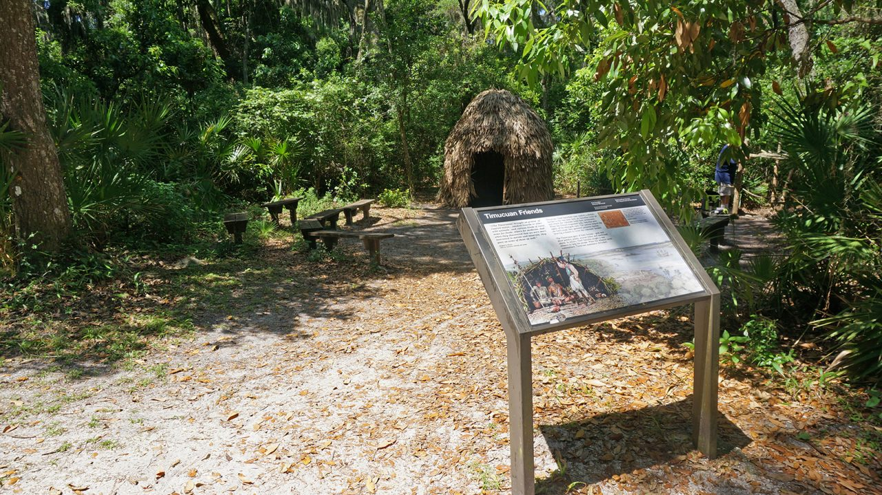 Timucuan village replica at Fort Caroline