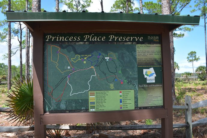 Trail system at Princess Place