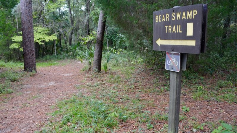 Bear Swamp Trail sign