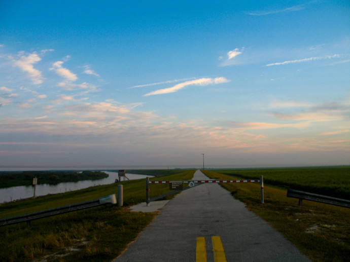 Walking by Torrey Island on the Florida Trail