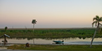 Powerboat on the Rim Canal in Clewiston