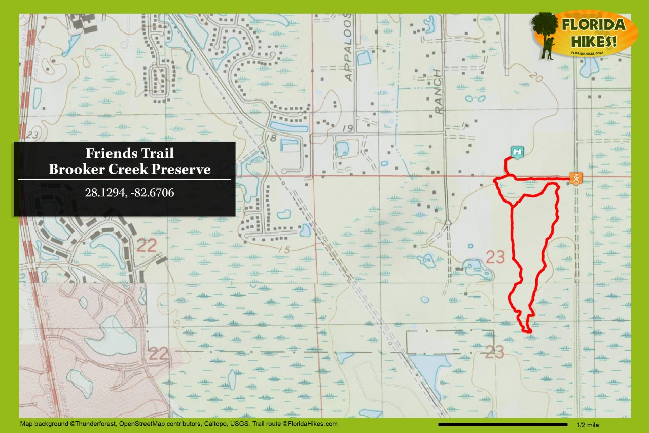 Brooker Creek Friends Trail map
