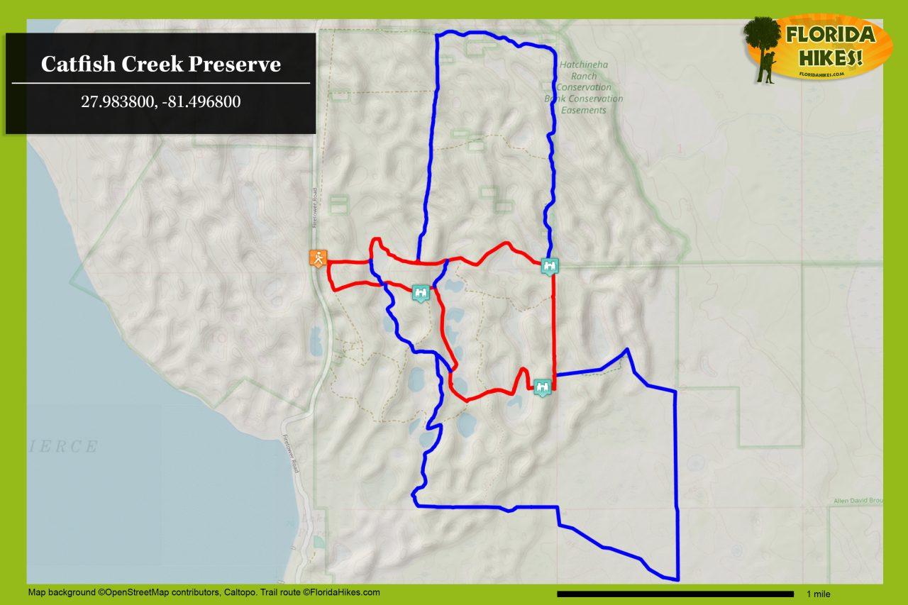 Catfish Creek Preserve Trail map