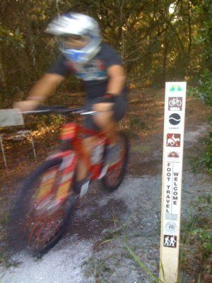 Cyclist on Ross Prairie Loop