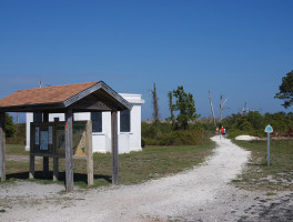 Florida Trail terminus at Fort Pickens