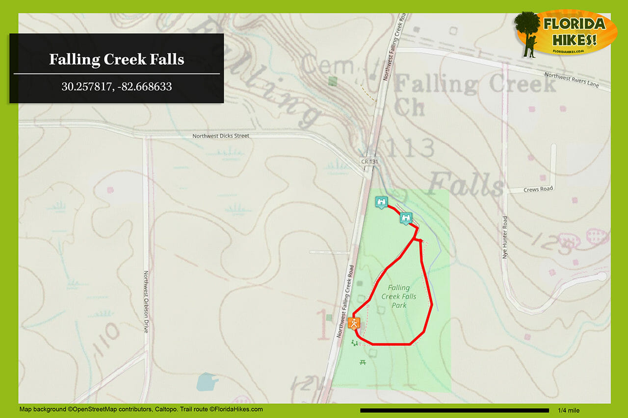 Falling Creek Falls trail map