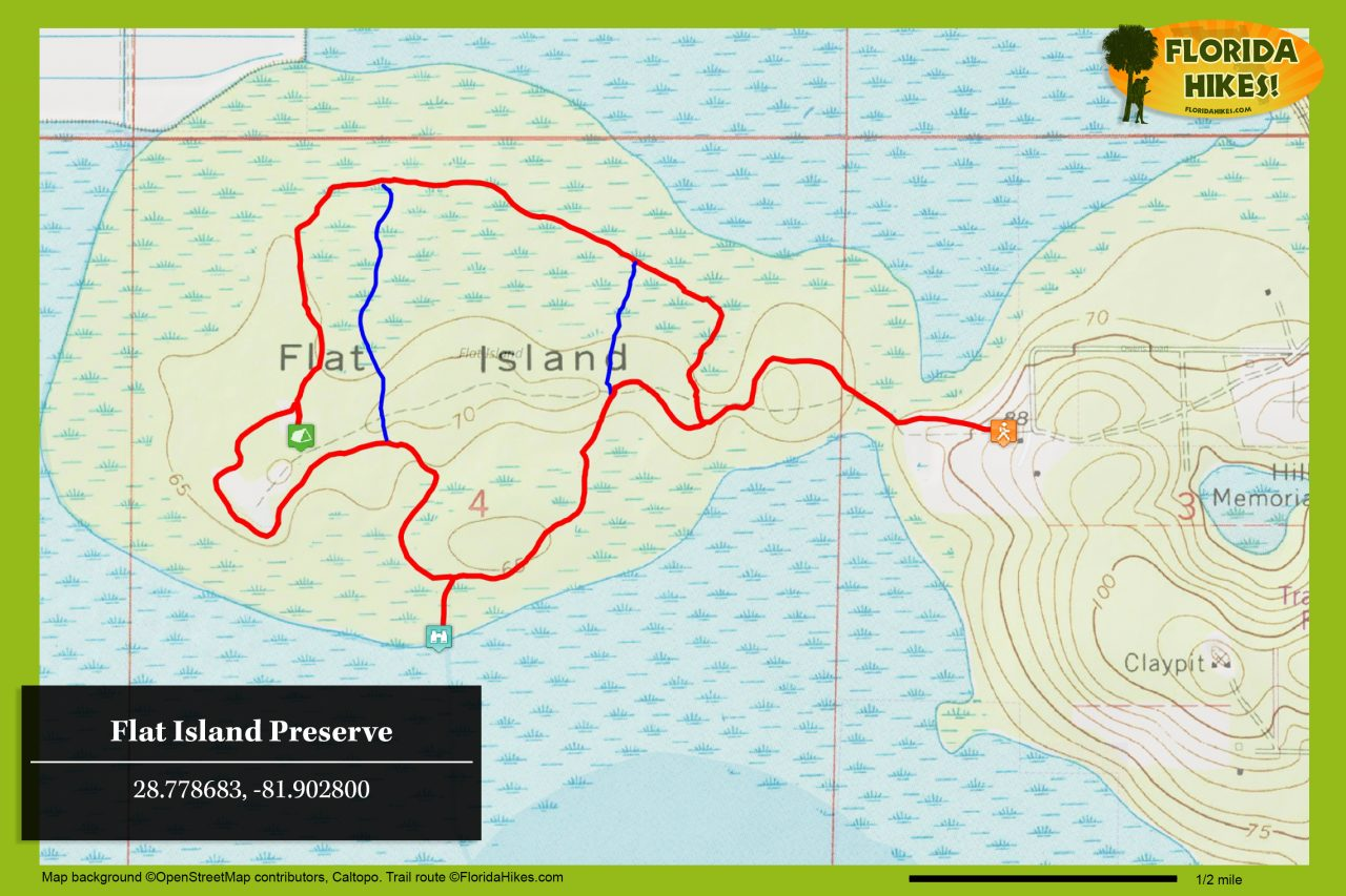 Flat Island Preserve trail map
