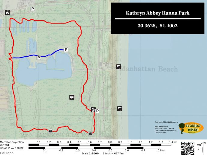 Hanna Park Map Kathryn Abbey Hanna Park | Florida Hikes!