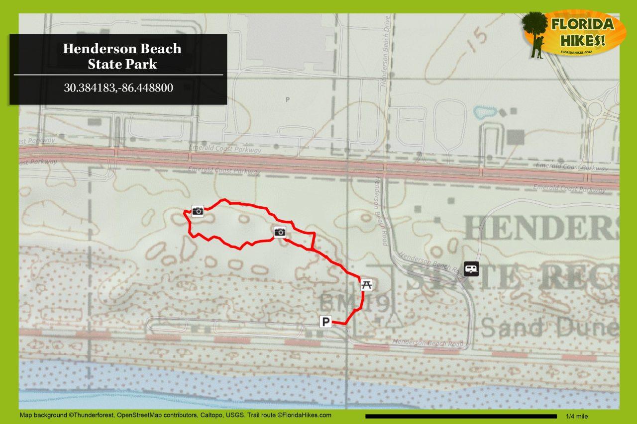 Henderson Beach trail map