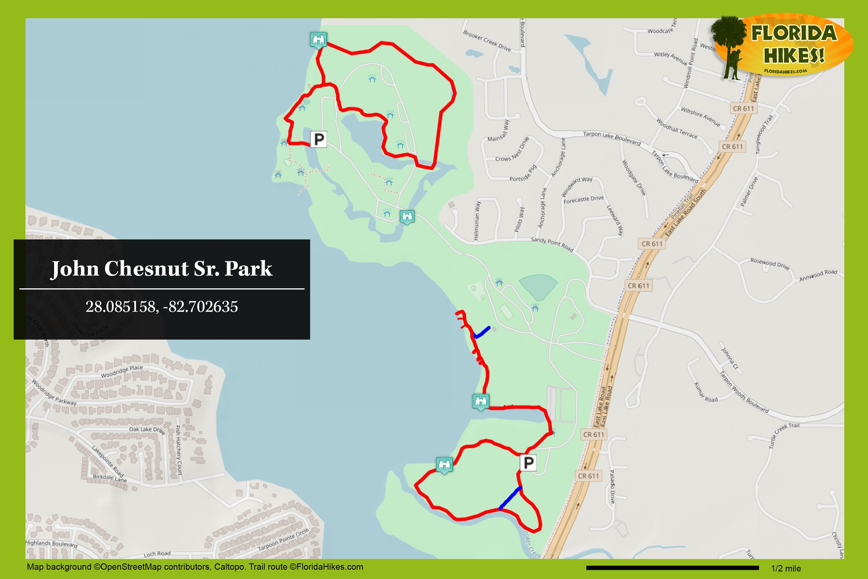 John Chesnut Park Map John Chesnut Sr. Park   Florida Hikes! John Chesnut Park Map