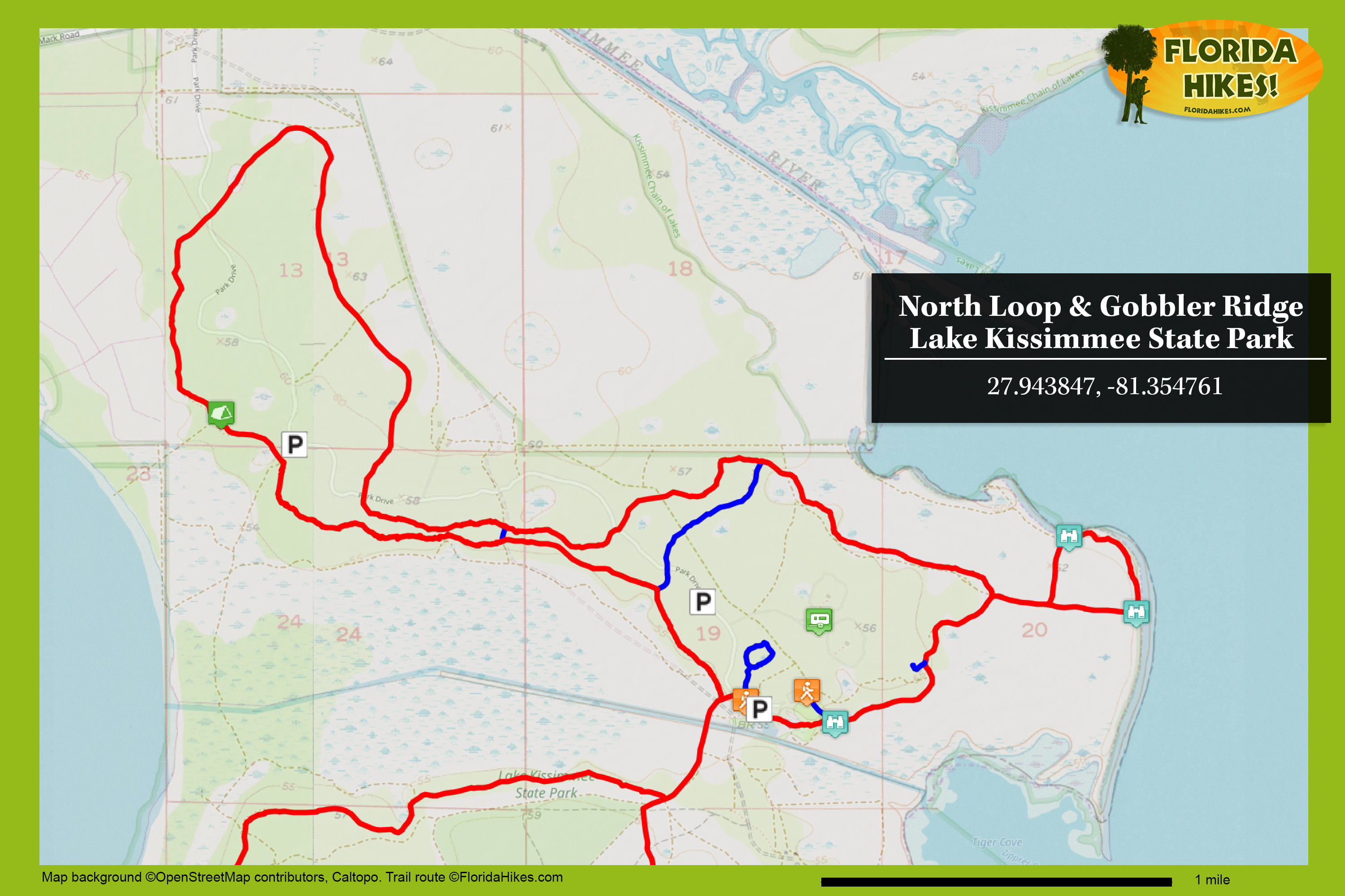 North Loop and Gobbler Ridge Trails   Florida Hikes! on kissimmee fl, kissimmee zip code 34741, kissimmee florida street map, kissimmee florida on map, kissimmee florida weather map,