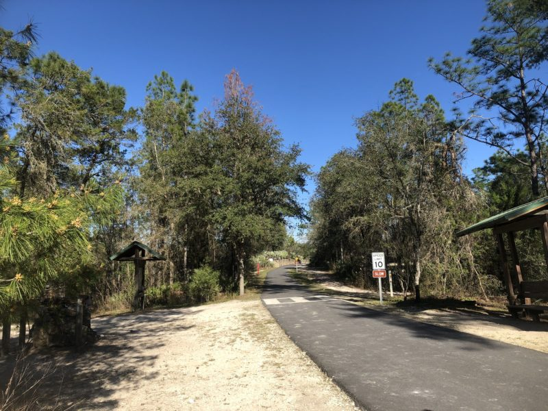 Land Bridge with paved bike path