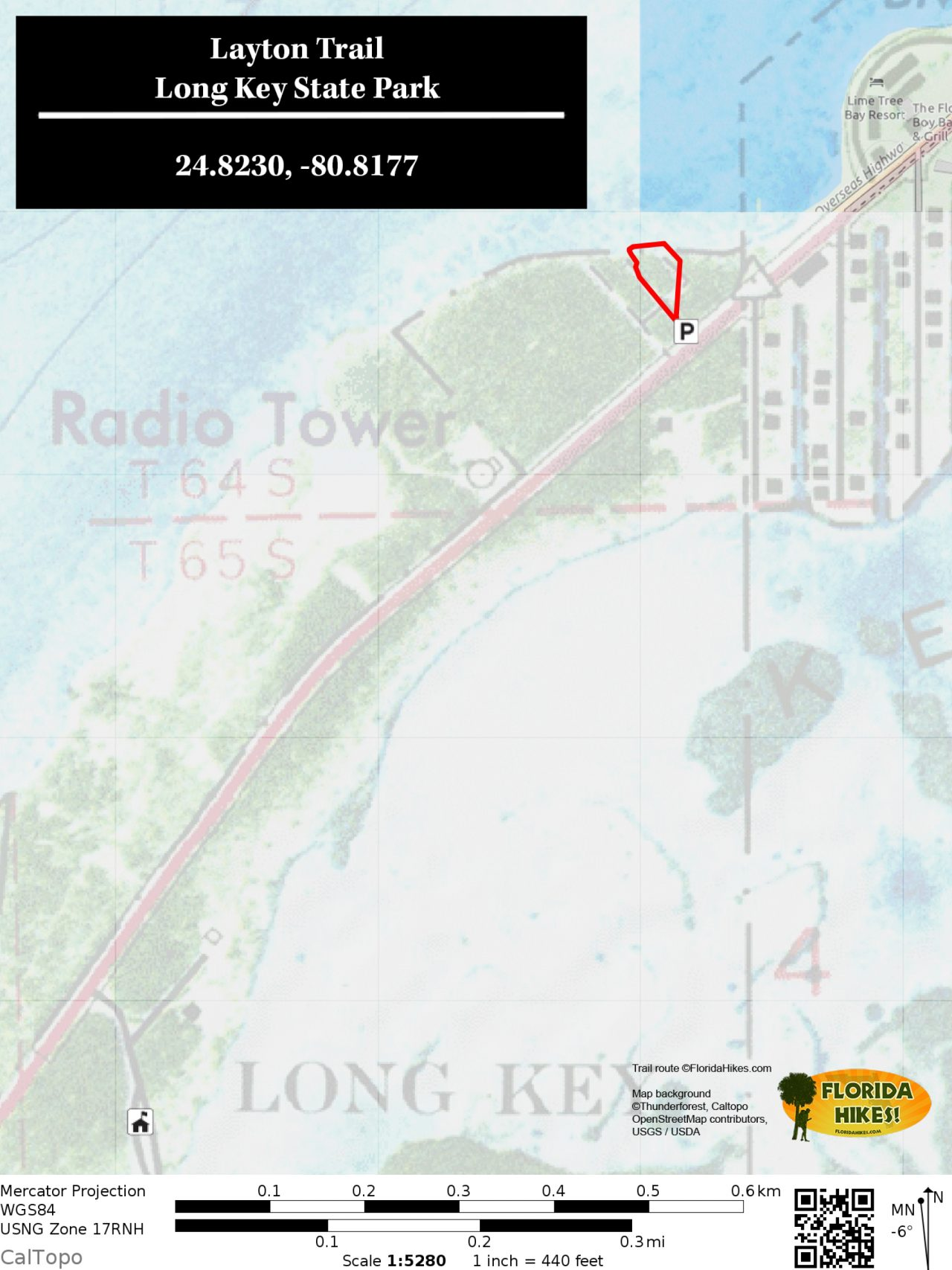 Layton Trail map, Long Key