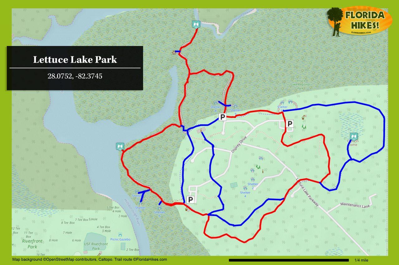 Lettuce Lake Park trail map
