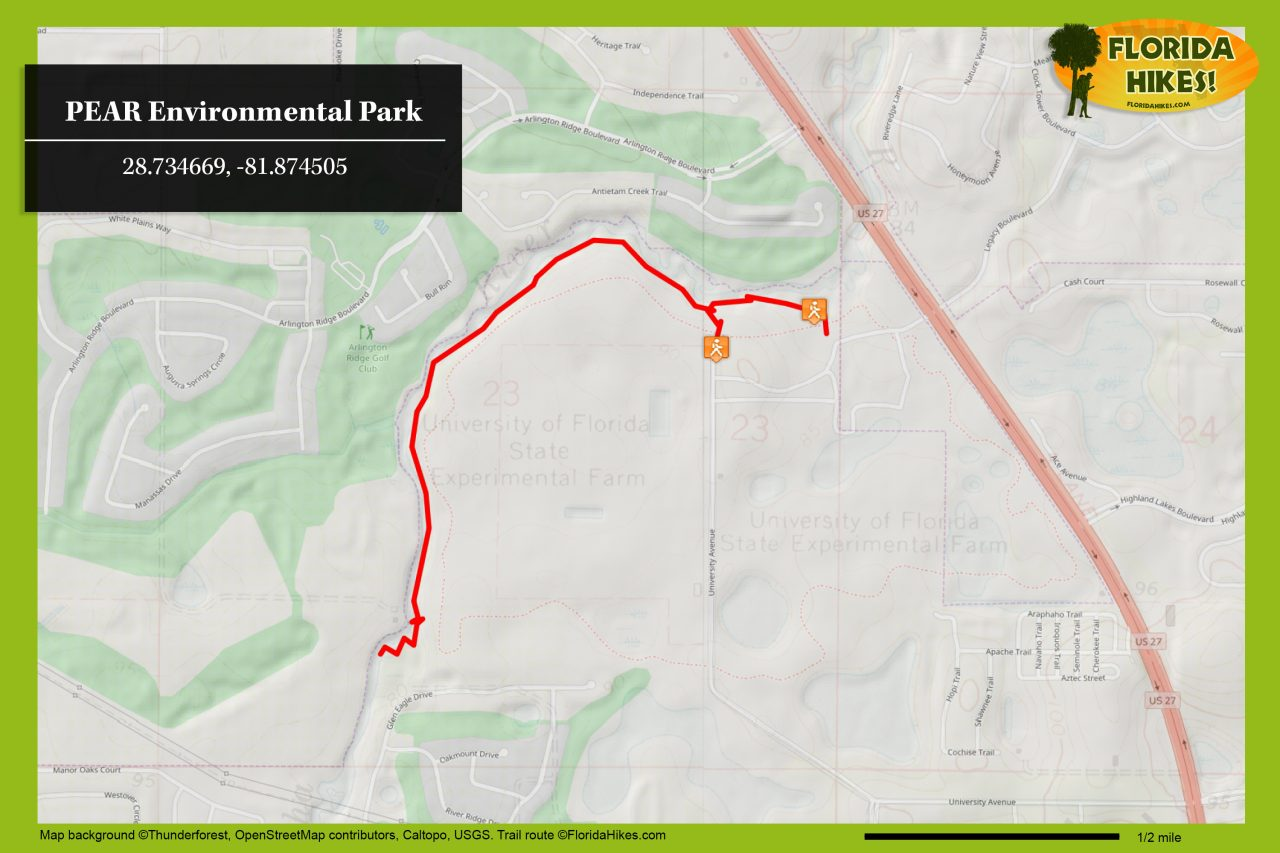 Pear Environmental Park trail map