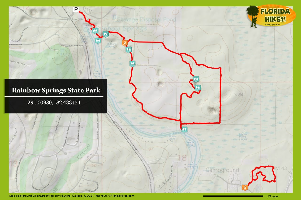 Rainbow Springs trail map