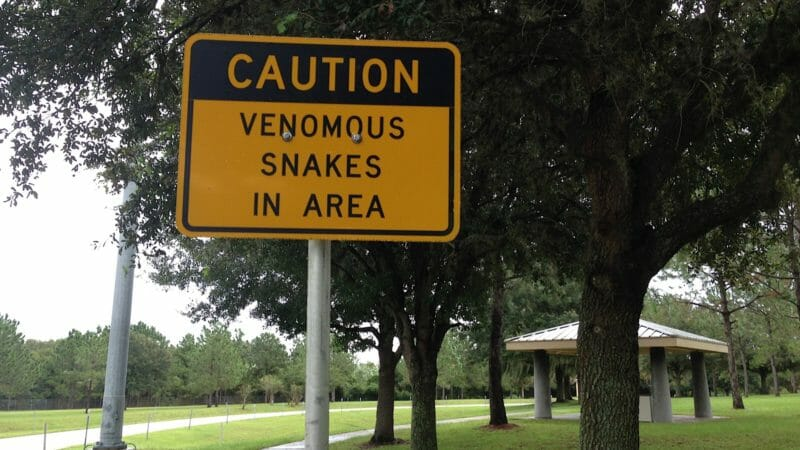 Rest area warning Interstate 4 Auburndale