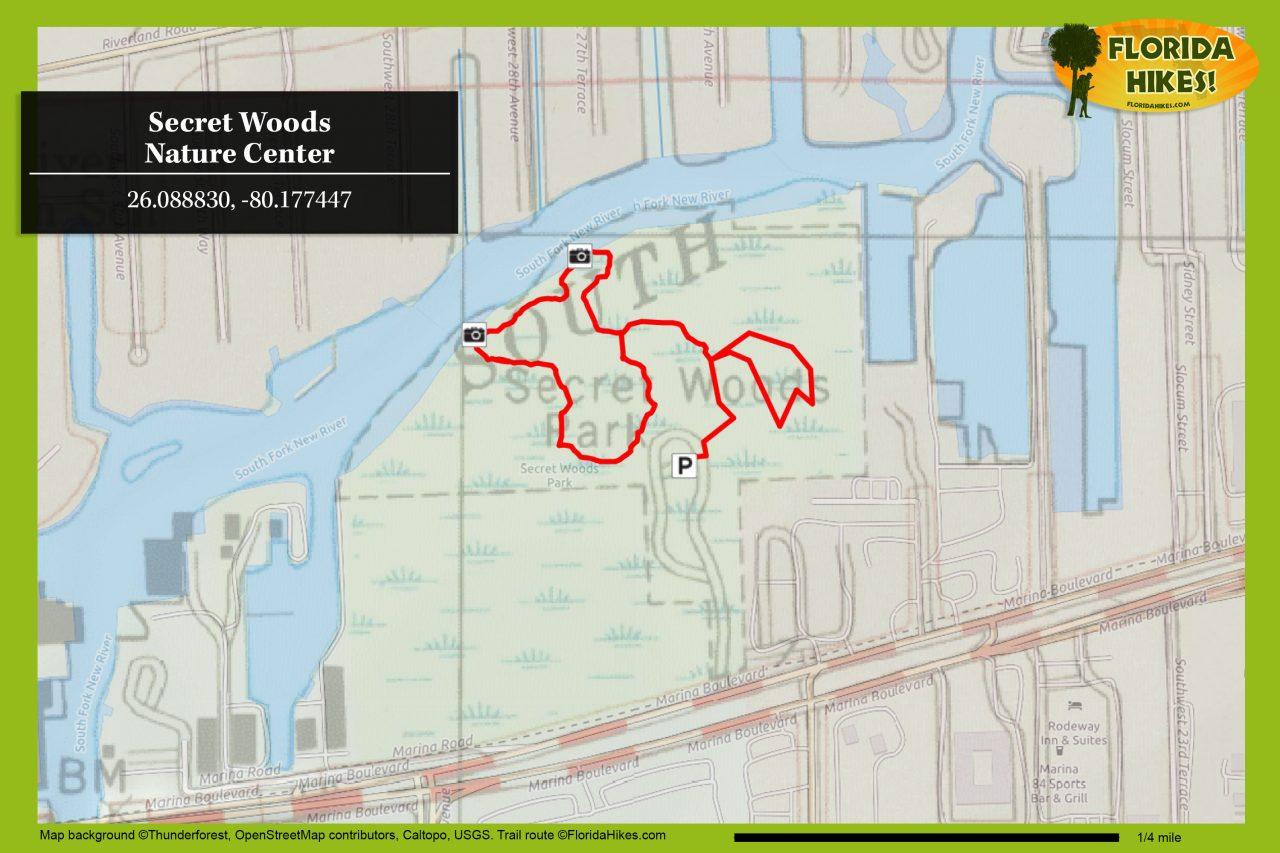 Secret Woods trail map