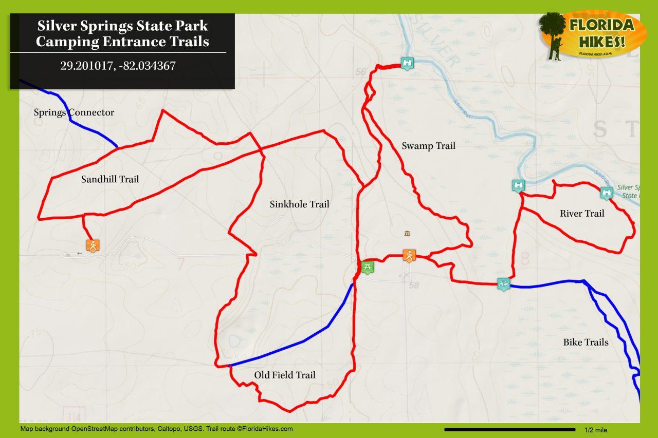 Silver Springs State Park trail map