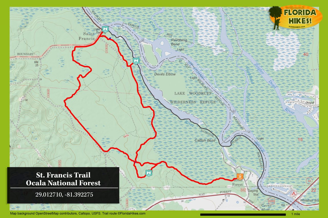 St Francis Trail map