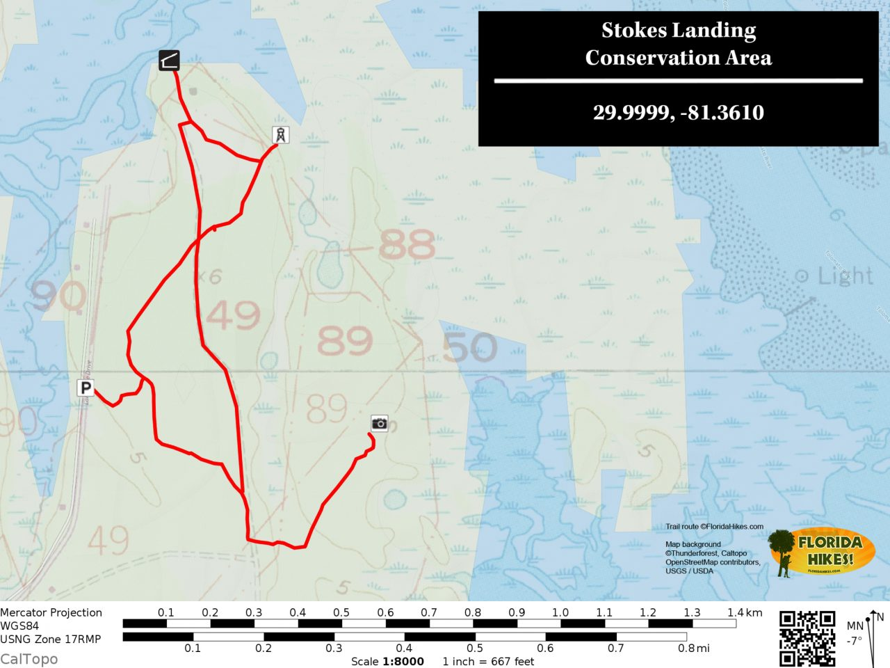 Stokes Landing trail map