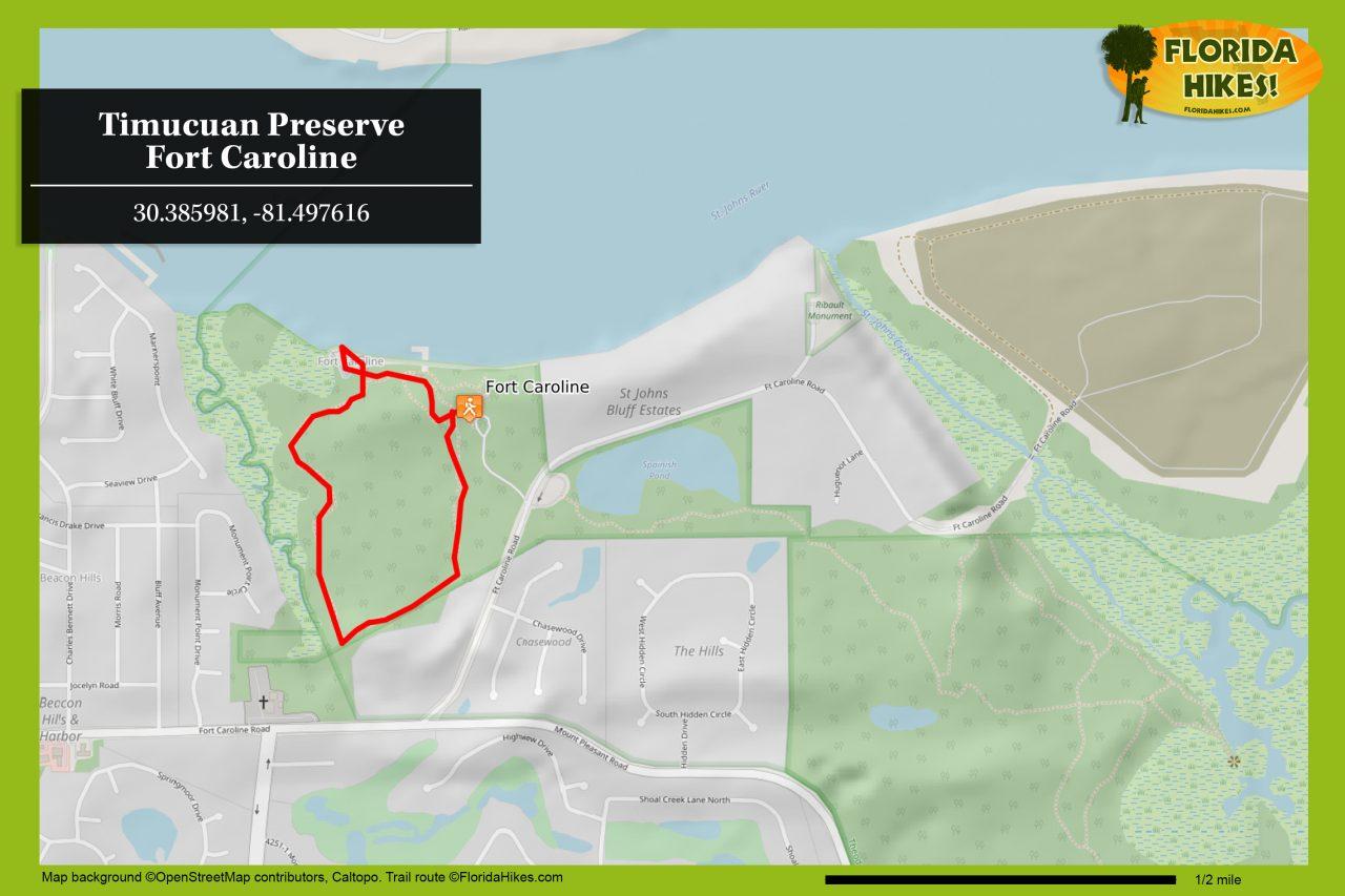 Fort Caroline map