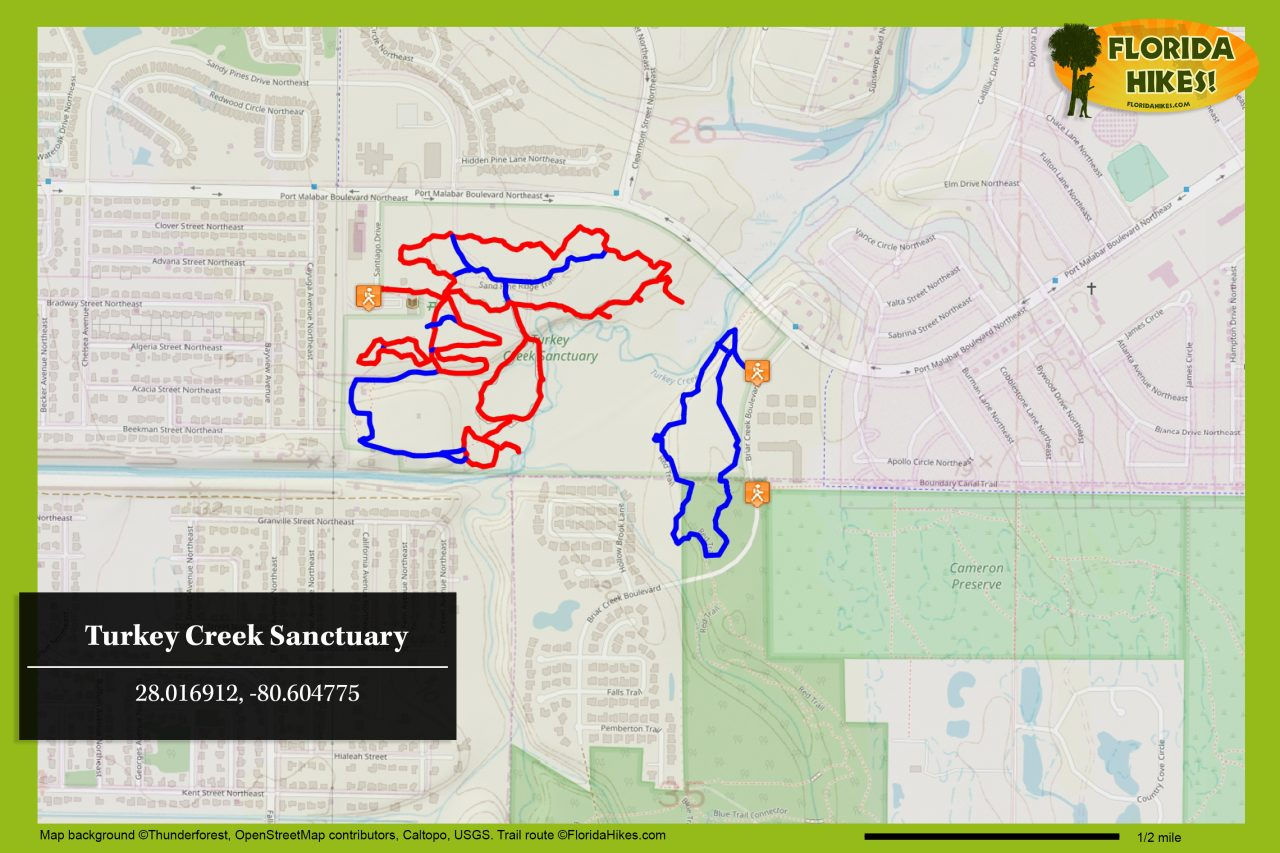 Turkey Creek Sanctuary trail map