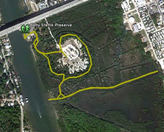 trail map of Steflik Preserve
