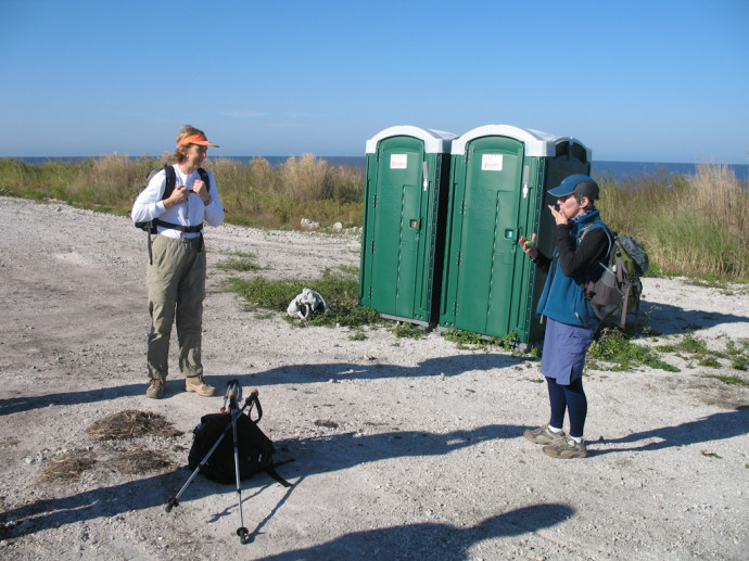 Never pass a restroom on the Big O Hike!