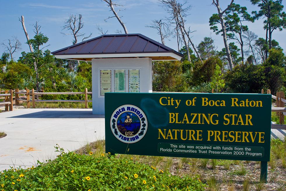 Blazing Star Nature Preserve entrance