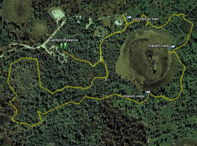 Carlton Reserve map
