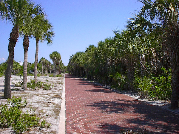 Brick streets on Egmont Key