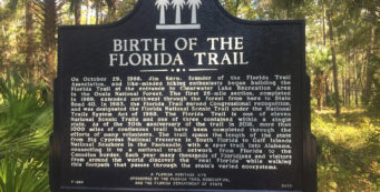 Florida Trail historic marker