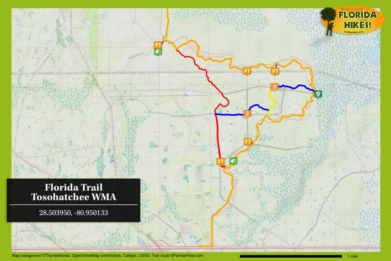 Florida Trail Tosohatchee trail map