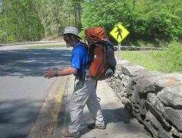 Hiker Crossing